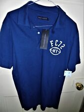 FRENCH CONNECTION ROYAL BLUE POLO SHIRT SIZE MEDIUM NEW WITH TABS