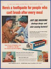 Vintage 1955 GLEEM with GL-70 Toothpaste Dental Hygiene Ephemera 50's Print Ad