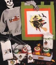 Leisure Arts BEWITCHIN' STITCHIN' 9 Cross Stitch Charts/Leaflet ~ Halloween