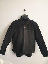 Cypher size Medium black nubuck leather jacket coat zip fastening