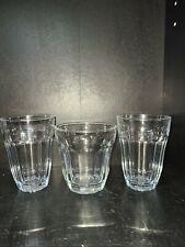 Vintage Pasabahce PALAKS Set of 3 x 10 Panel Glasses Turkey
