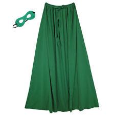 "39"" Child Green Superhero Cape & Mask Costume Set ~ HALLOWEEN KIDS COSTUME PARTY"