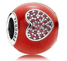 NEW Authentic Pandora Bead I Love Minnie Mouse Charm by PANDORA 792052CZR
