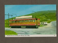 Snaefell Summit & Mountain Railway.  Postcard. Colour. Bamforth. L.112