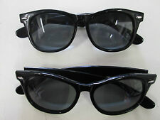 2 Pairs 80s Style Blue Brothers Glasses Fancy Dress Black Dark Lens Shades