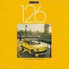 FIAT 126 594Cc MID 1977 Regno Unito delle vendite sul mercato opuscolo Saloon DE VILLE