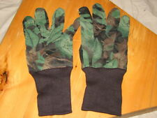 2 pair camo tru-leaf hunting gloves archery small game kamo light one size