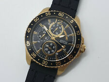 Guess Jet Men's Multidial Watch With Black Rubber Strap W0798G3