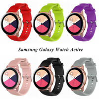 For Samsung Galaxy Watch Active Soft Silicone Watch Wristband Strap Replace Band