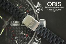ORIS 20MM DIVERS PILOTS RACERS YACHT BLACK DEPLOYMENT CLASP & WATCH BAND STRAP