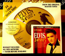 ♫ ELVIS PRESLEY 24 KARAT HITS! DCC Limited Edition Low # RARE SEALED 24K Gold CD