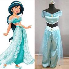 Holloween Cosplay Costume Aladdin Jasmine Princess Adult Belly Dancer Costume