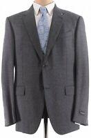 Ermenegildo Zegna NWT Sport Coat 44R Gray & Black ~Solid Flannel Wool $1,995
