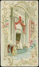 santino cromo -holy card LEONE XIII PAPA CHIUSURA PORTA SANTA GIUBILEO 1900