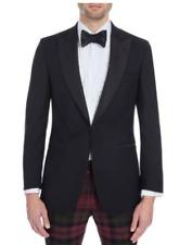 NEW £395 HACKETT LONDON Black Wool Blend Dinner Suit Jacket Size 46