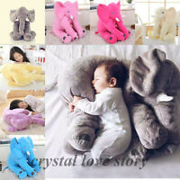 Long Nose Elephant Pillow Baby Sleeping Warm Soft Stuffed Doll Plush Cushion Toy