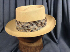 Vintage Adams Panama Hat Panaweve Regent Quality Natural Straw Size 7