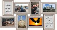 8er Collage Frankfurt Multishot silber Shinsuke® Bilderrahmen Vinyl ca. 63x33 cm