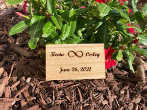 Personalized Rustic Handmade Wedding Ring Box with Free Personalization