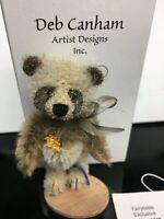 "Deb Canham Artist Mohair Teddy Bears NICU2 Panda DCAD Special LE 3.5"""