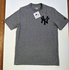 NY Yankees MLB Under Armour T-Shirt Crew Shirt Gray Grey Medium NWT  #UG03 OG