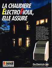 PUBLICITE ADVERTISING 124  1987  DE DIETRICH  chaudière ELECTROFIOUL