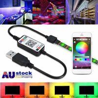 5050 USB Powered 1M-5M RGB LED Strip Light Wireless Bluetooth Control Lights AU