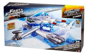 Fast and Furious F8 Ice Charger Cars Frozen Missile Attack Playset Vehicle Toys