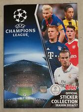Album Calciatori figurine UEFA Champions League 2016/2017 vuoto + 12 figurine