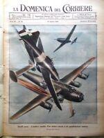 La Domenica del Corriere 22 Agosto 1943 WW2 Bombardamento Milano Lampi Barometro