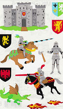 Mrs. Grossman's Giant Stickers - Knights - Castle, Jousting, Armor - 2 Strips