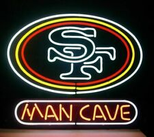 "San Francisco 49ers Man Cave Neon Lamp Sign 20""x16"" Bar Light Beer Glass Display"