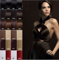 Mixed Clip In Hair Remy Real Hair Extension 100% Human Hair Extensions Full Head
