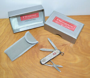 VICTORINOX STERLING SILVER SWISS ARMY KNIFE Model 53029 Hammered With Box