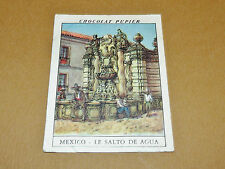 CHROMO #192 LE SALTO DE AGUA MEXIQUE MEXICO CHOCOLAT PUPIER AMERIQUE NORD 1952