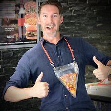 Ckb ltd novelty pizza support fentes étui & lanyard inhabituel cadeau fun cadeau id uk