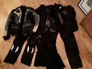 Job Lot Bundle mix size gender Dainese Honda Goretex motorcycle jackets trousers