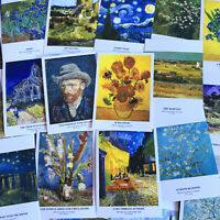 Lot 30 pcs Van Gogh Famous Oil Paintings Postcards Starry Night Sunflowers Set