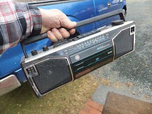 Vintage GE General Electric 4 Speaker AM FM Cassette Boombox Model 3-5622B Works