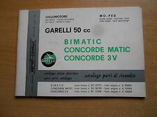 Ersatzteil Katalog Garelli 50 Bimatic Concorde 3V Matic parts pieces catalogue