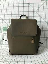 NWT Michael Kors Hayes Medium Leather Backpack Book Bag In Olive/Ballet