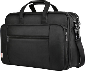 Black Laptop Bag with Sleeve Travel Case Strap for Computer 17in High Quality