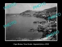 OLD POSTCARD SIZE PHOTO OF CAPE BRETON NOVA SCOTIA INGONISH FERRY CANADA c1930