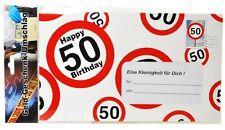 Riesenumschlag 50 Umschlag 50. Geburtstag  Geldgeschenk Gutschein