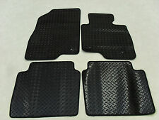 Mazda 6 Saloon 2013-on Fully Tailored Deluxe RUBBER Car Mats in Black