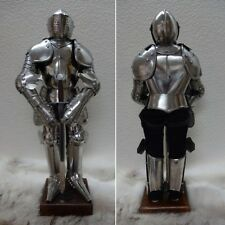 Miniature Medieval English Suit of Armour on Stand with Sword. Ideal Gift