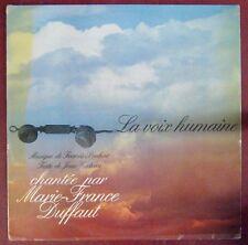 Jean Cocteau 33 tours La voix humaine Marie-France Duffaut