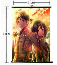 HOT Anime Attack on Titan Wall Poster Scroll Home Decor Cosplay 001