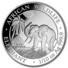 2017 Somalia 1/10 oz Silver Elephant BU - SKU #102895