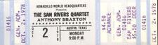 Sam Rivers Quartet Concert Ticket 1978